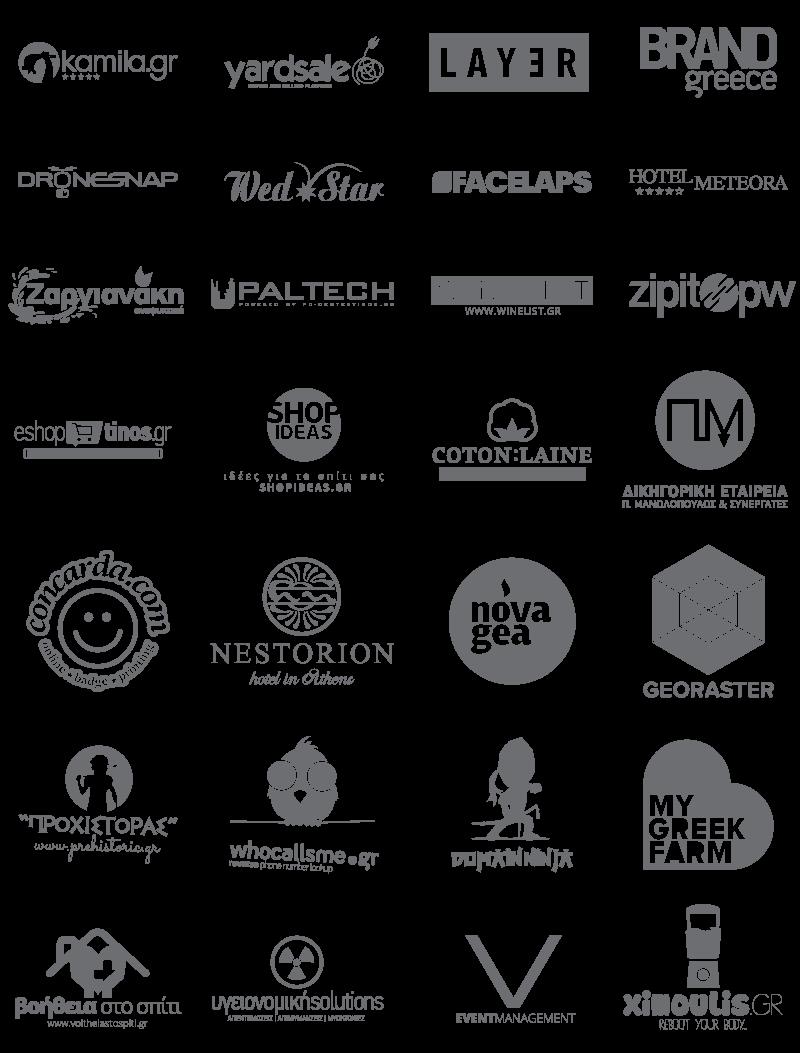σχεδιασμός λογοτύπου, λογότυπα πελατών