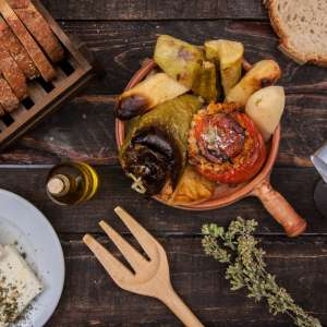 Greek Food Restaurant Photoshooting Back Stage Timelaps